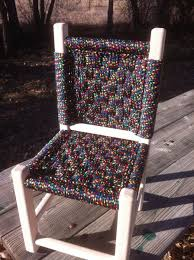 hand made kids post and rung macrame chairs by abc woodworking