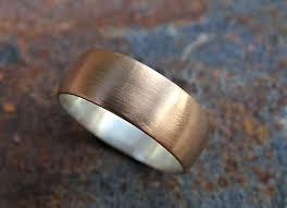 mens wedding rings cheap buy a handmade bronze wedding ring domed bronze ring silver mens
