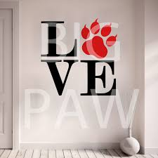 wall sticker vinyl decal friendship nations peace globe holding love cat paw print with claws words animal lovers vinyl wall art sticker decal