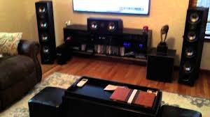 home theater audio system my 5 2 polk home theatre system youtube