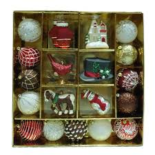 Christmas Outdoor Decorations Martha Stewart by Martha Stewart Living Pepperbery Lane Ornament Set 19 Count C