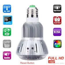 motion detector light with wifi camera cctv camera hd 1080p hidden smart home safty wifi camera e27 led