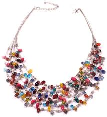 wholesale beaded necklace images Colorful feast handmade multi strand beaded necklace glass jpg