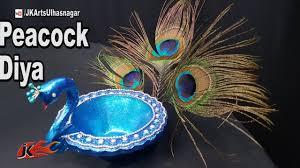 diy peacock diya diwali home decoration ideas jk arts 1294