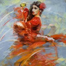 flamenco 47 painting by maryam mughal