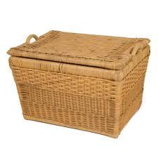 large wicker baskets with lids lift off lid wicker storage basket u0026 covered basket the basket lady