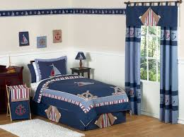 bedroom navy blue comforter with nautical theme for kids bedroom