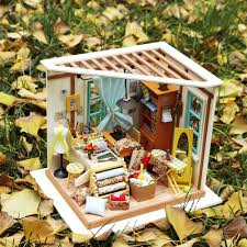 robotime diy doll house with light 3d wooden puzzle handmade