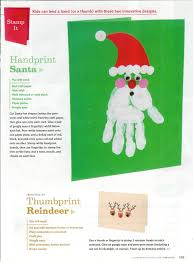 santa hand and reindeer finger prints family fun magazine