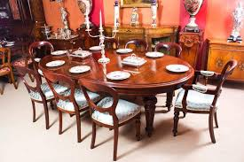 antique victorian oval dining table and eight chairs circa 1860