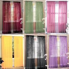 Sheer Door Curtains 95cm 200cm Diy Home Design Romance Sheer Door Window Treatment