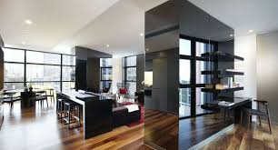 decent home interiors designs with black wood glass luxury design