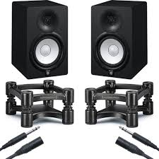 Audio Studio Desk by Yamaha Hs7 Monitors With Isoacoustics Stands Studio Bundle Pair
