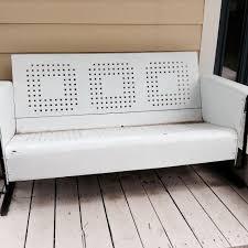 Metal Sofa Glider Best Vintage Metal Porch Glider For Sale In Volusia Florida For 2017