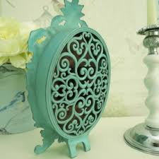 Duck Egg Blue Vase French Antique Style Oval Clock In Duck Egg Blue