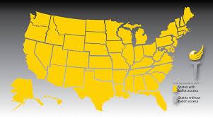2016 Presidential Map 2016 Presidential Ballot Access Map Libertarian Party