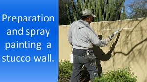 painting exterior stucco wall youtube