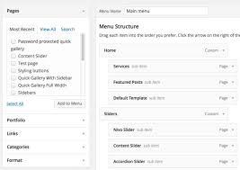 custom menus dandelion u2013 premium elegant wordpress theme