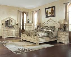 Painted Wooden Bedroom Furniture by Bedroom Gorgeous Ivory Paint Wooden Ashley Furniture King Bed