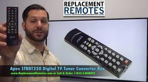 apex stbdt250 digital tv tuner converter box remote www