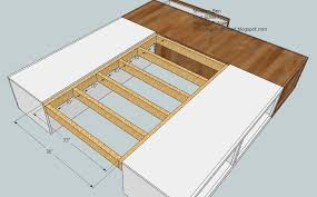 Build A Platform Bed With Storage Plans by King Size Platform Bed Plans With Drawers Fpudining