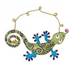 glittered metal gecko ornament joe wilcox indian den