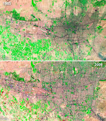 tehran satellite map 40 years of city growth as seen from space wired