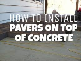How To Lay A Paver How To Install Pavers On Top Of Concrete Hanover Pa Hardscaping