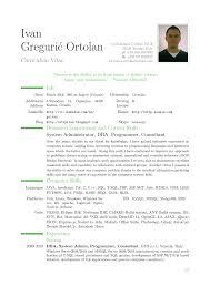 latex resume exles 8 modern cv ivan greguric ortolan the great