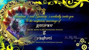 Wedding Invitation Hindu Ganesh Purple Wedding Beats U2013 Traditional Hindu Ganesh Animated Wedding Save The