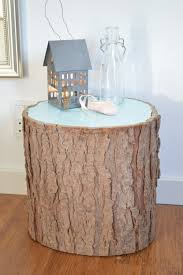 Tree Stump Side Table 7 Rustic Diy Stump Coffee Tables And Stools Shelterness