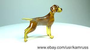 german shorthaired pointer glass figurine murano handmade