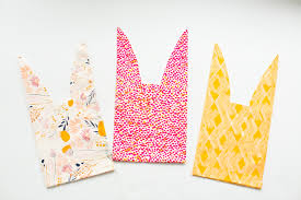 paper favor bags easy no sew fabric bunny favor bags