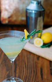 martini limoncello meyer lemon rosemary martini by the redhead baker