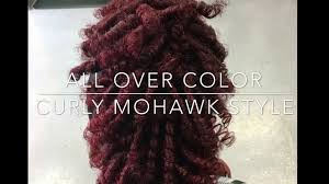 influance hair dye influance hair color with curly mohawk style youtube
