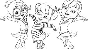 alvinnn chipmunks chipettes colour colouring pages