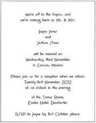 Post Wedding Reception Invitation Wording Wedding Invite Wording Casual Paperinvite