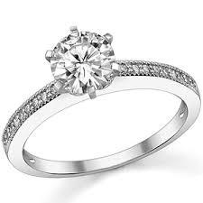 milgrain engagement ring moissanite milgrain engagement ring 0 09ct