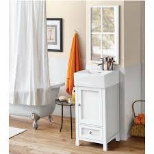 18 In Bathroom Vanity Cabinet by Ronbow 051618 W01 Juliet 18 Bathroom Vanity Cabinet Base In White