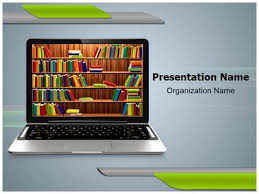 digital library powerpoint template is one of the best powerpoint