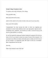 How Does College Acceptance Letter Look Like College Acceptance Letter Letter Template