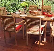 blaxland 9 piece teak oval extending outdoor setting