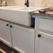 how to install an apron sink in an existing cabinet installing an above mount farmhouse sink colors and craft