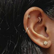 earring top of ear piercings goals ear candy piercings