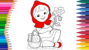 red riding hood coloring pages happy song