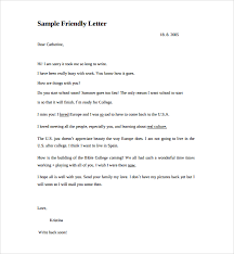 sample friendly letter format 8 free documents in pdf word