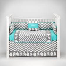 Circo Crib Bedding by Amazon Com Elephant Chevron Zig Zag Gray U0026 Turquoise Baby