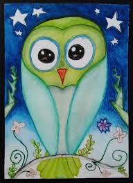 sg feb 2015 owl paintings u2014 christine thornton u0027s art studio