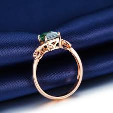 unique 1 50 carat emerald and diamond infinity engagement ring in