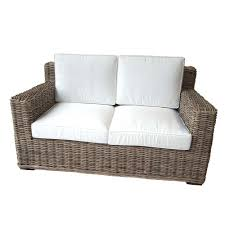 canapé en rotin d intérieur fibre naturelle haute qualité 150cm